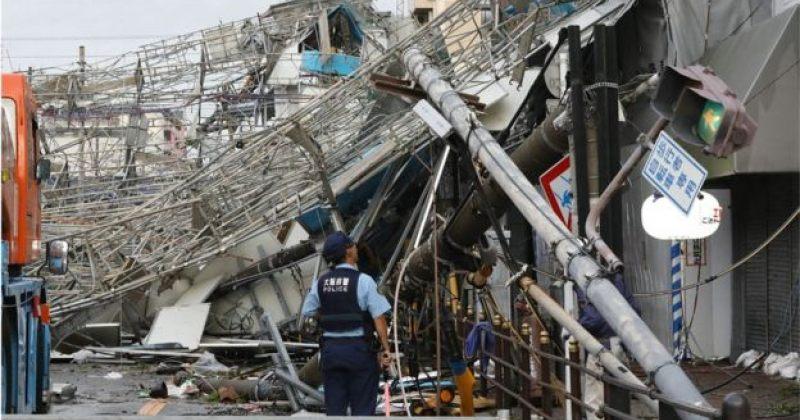 """იაპონიაში ტაიფუნ """"ჯების"""" შედეგად სულ მცირე 10 ადამიანი დაიღუპა"""