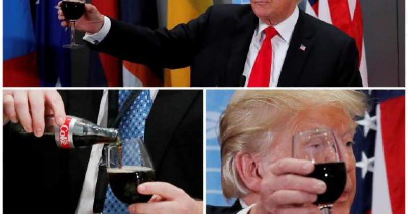 დონალდ ტრამპმა მსოფლიო ლიდერების სადღეგრძელო დიეტური კოკა-კოლით დალია