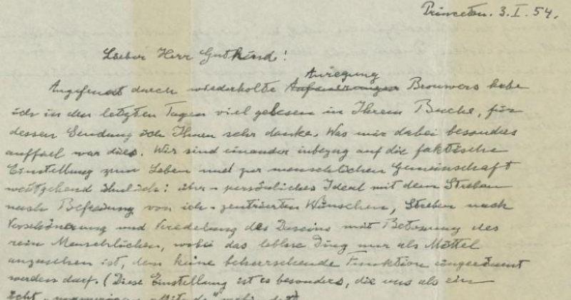 აინშტაინის წერილი, რომელშიც ფიზიკოსი ღმერთს და რელიგიას უარყოფს,  $1 მილიონად გაიყიდება