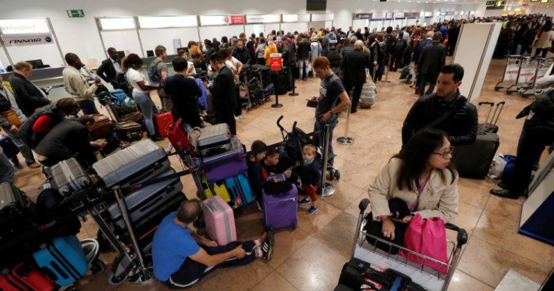 მტვირთავების გაფიცვის გამო ბრიუსელის აეროპორტში 184 რეისი გაუქმდა