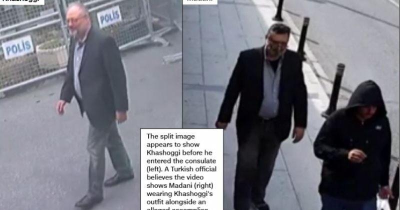 CNN-ის ვიდეოში ხაშოგის მკვლელობაში ეჭვმიტანილი საკონსულოდან მისი ტანსაცმლით გამოდის
