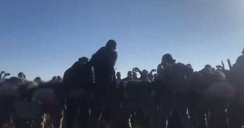 ანტისაოკუპაციო აქციის მონაწილეებმა შარვლები ჩაიხადეს და ოკუპანტს უკანალი ანახეს [Video]
