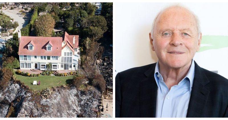 ენტონი ჰოპკინსის სახლი კალიფორნიაში გაჩენილ ხანძარს გადაურჩა
