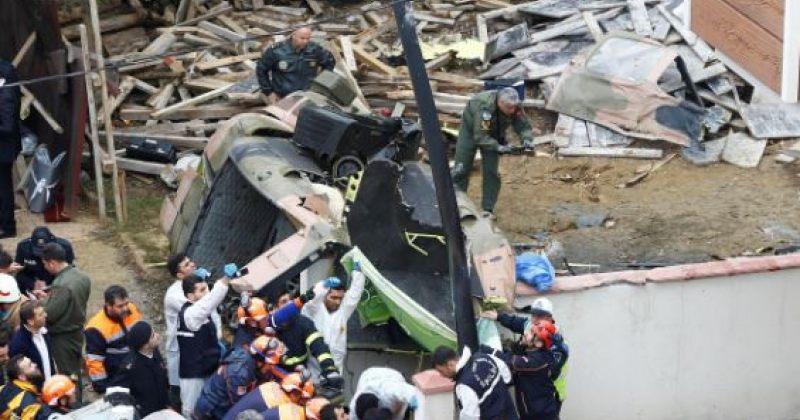 სტამბოლის ცენტრალურ უბანში ვერტმფრენის ჩამოვარდნას 4 სამხედრო ემსხვერპლა