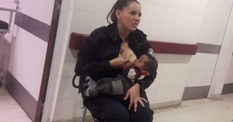 არგენტინელმა პოლიციელმა ქალმა უცნობი ბავშვი ძუძუთი გამოკვება