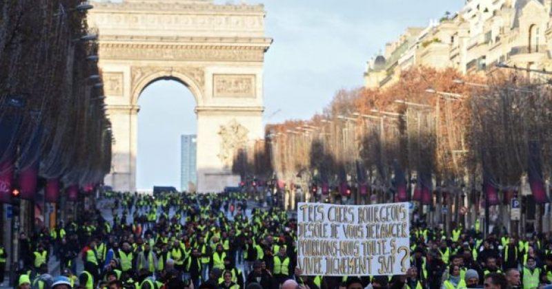 პარიზში პოლიციამ მომიტინგეების წინააღმდეგ ცრემლსადენი გაზი გამოიყენა, დააკავეს 272 ადამიანი