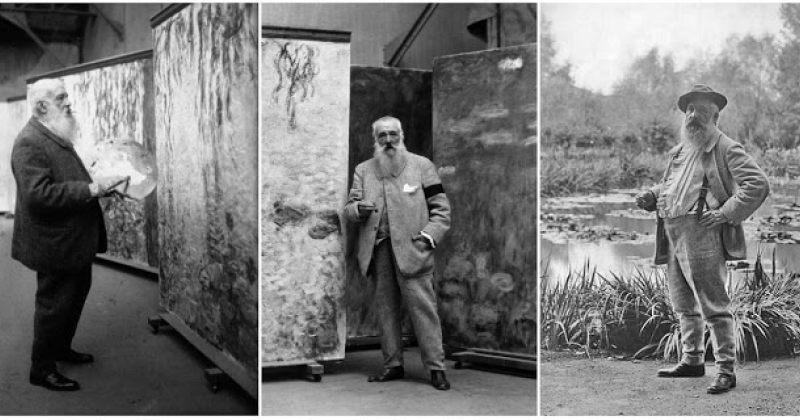 კლოდ მონე თავის სტუდიასა და ბაღში - მხატვრის ცხოვრება და სურათები