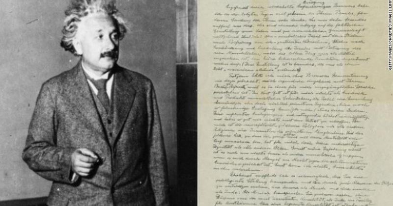 """ალბერტ აინშტაინის """"წერილი ღმერთზე"""" აუქიონზე2.9 მილიონ დოლარად გაიყიდა"""
