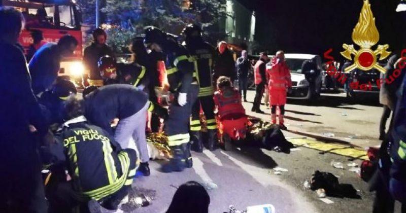 იტალიაში კონცერტზე ჭყლეტის დროს ექვსი ადამიანი დაიღუპა, ათეულობით - დაშავდა
