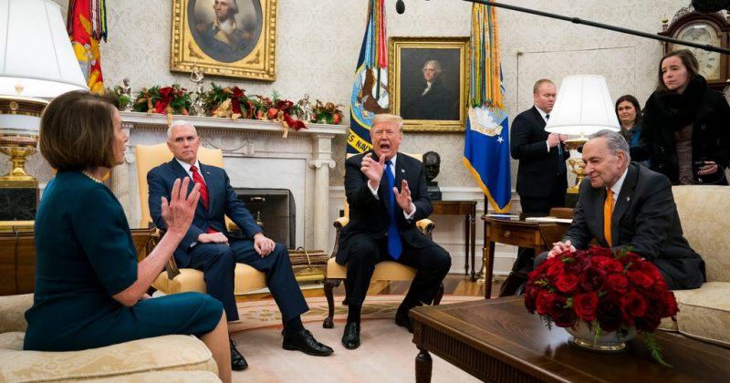 აშშ-ის მთავრობა შესაძლოა კვლავ დაიხუროს - დემოკრატებიტრამპთან ვერ შეთანხმდნენ