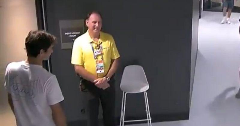 აკრედიტაცია ფედერერსაც სჭირდება - ჩოგბურთელი დაცვის თანამშრომელმა არ გაატარა [VIDEO]