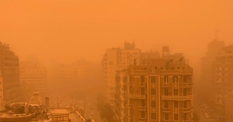 ეგვიპტეს ქვიშის ქარიშხალმა გადაუარა - ფოტოები