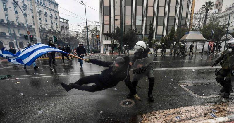 მაკედონიის სახელის გამო საბერძნეთში საპროტესტო აქციებზე ათობით ადამიანი დაშავდა