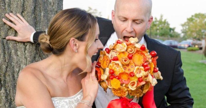 უკვე შეგიძლიათ, ქორწილში ყვავილების თაიგულის ნაცვლად პიცის თაიგული გქონდეთ