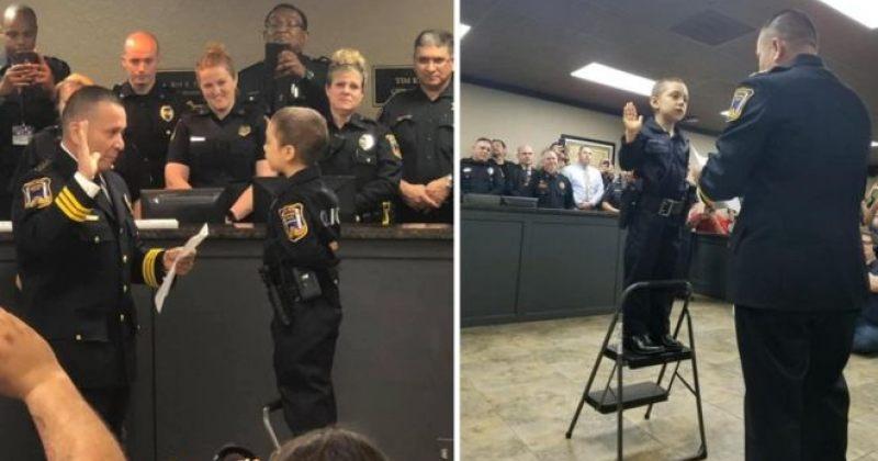 კიბოთი დაავადებულ 6 წლის გოგოს პოლიციელობის ოცნება აუხდა