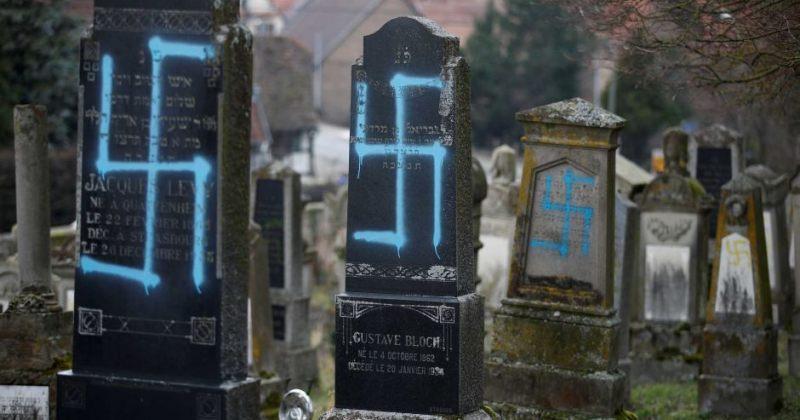 საფრანგეთში ებრაელების 80 საფლავი სვასტიკით შებღალეს