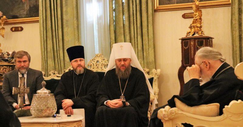 """ილია II მოსკოვის საპატრიარქოს დაქვემდებარებული """"უკრაინის ეკლესიის"""" წარმომადგენლებს შეხვდა"""
