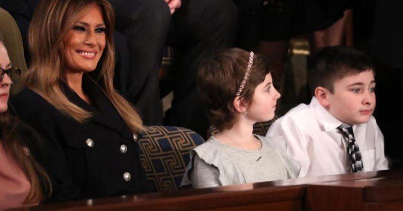 მელანია ტრამპმა კონგრესში ჯოშუა ტრამპი დაპატიჟა, რომელსაც სკოლაში გვარის გამო დასცინიან