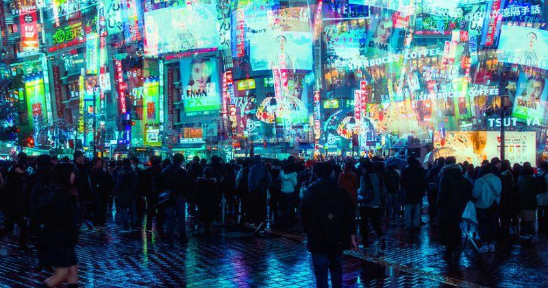 ღამის ტოკიოს სილამაზე - სურათები