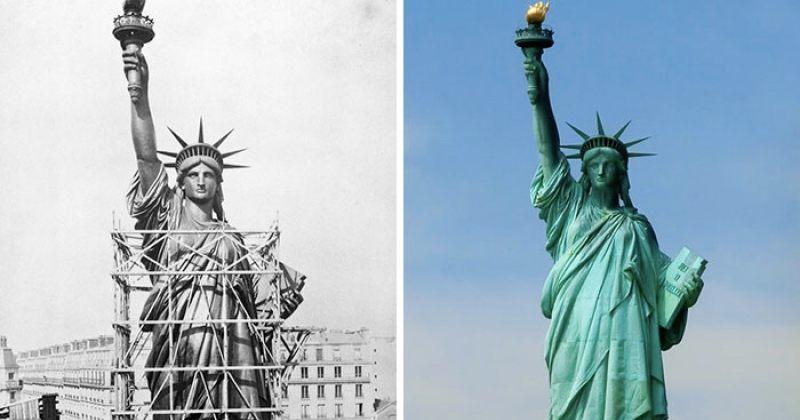 როგორ შენდებოდა მსოფლიოს ყველაზე ცნობილი ძეგლები და ხიდები - სურათები