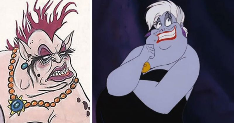 როგორ გამოიყურებოდნენ Disney-ის გმირები თავდაპირველ ჩანახატებში - გალერეა