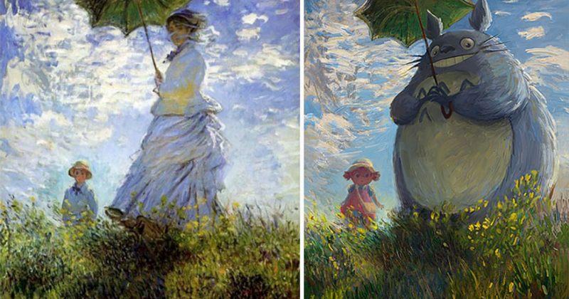 არტისტმა კლასიკური მხატვრობის ნიმუშები პოპ კულტურის გმირებად გარდაქმნა - გალერეა