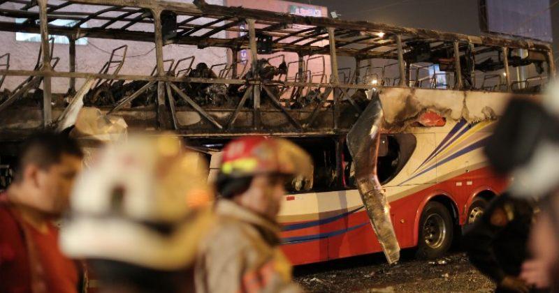 პერუში ორსართულიან ავტობუსში გაჩენილ ხანძარს 20 ადამიანი ემსხვერპლა