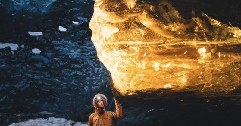 ისლანდიის ყინულის გამოქვაბულების ბრწყინვალება - სურათები