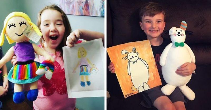 კომპანია, რომელიც ბავშვების ნახატებს სათამაშოებად გარდაქმნის - სურათები