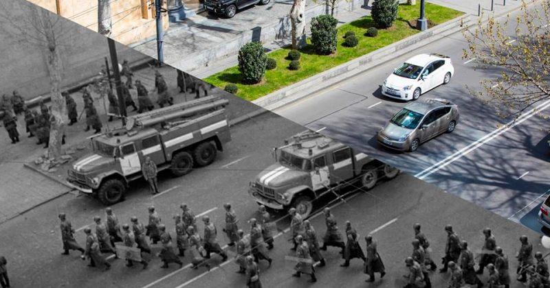 ქართველმა ფოტოგრაფმა რუსთაველის გამზირის დღევანდელი და 1989 წლის ფოტოები გააერთიანა