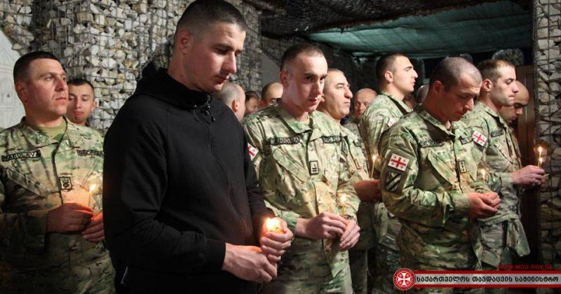 ქართველმა სამხედროებმა აღდგომის დღესასწაული ავღანეთში ბაგრამის საავიაციო ბაზაზე აღნიშნეს