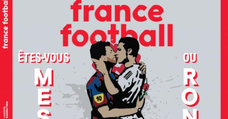 France Football-ის გარეკანზე მესი და რონალდუ ერთმანეთს კოცნიან