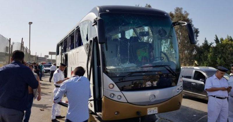 გიზას პირამიდებთან აფეთქების შედეგად ავტობუსში მყოფი ტურისტები დაშავდნენ