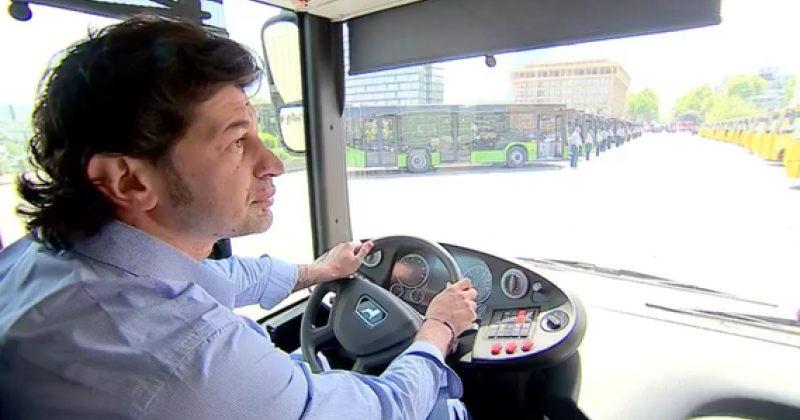 თბილისის მერიამ ახალი, მწვანე ავტობუსების პრეზენტაცია გამართა