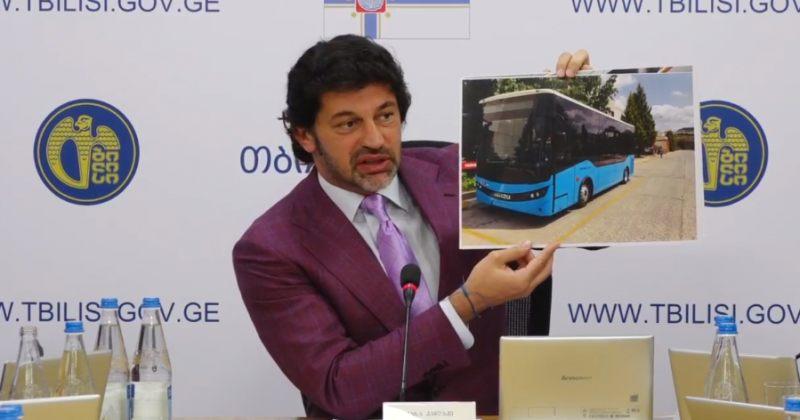 კალაძე: წლის ბოლოსთვის თბილისში 220 ახალი 8 მეტრიანი ავტობუსი უნდა შემოვიდეს