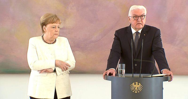 ანგელა მერკელი გერმანიის პრეზიდენტთან შეხვედრისას შეუძლოდ გახდა [Video]
