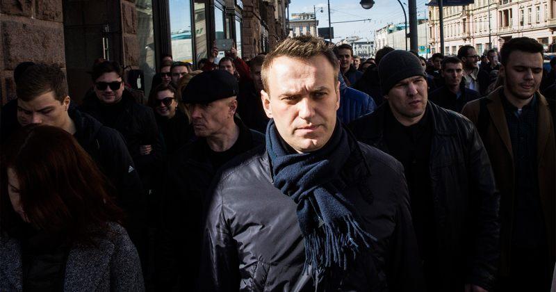 მოსკოვში ჟურნალისტ ივან გოლუნოვის მხარდამჭერ აქციაზე ალექსეი ნავალნი დააკავეს