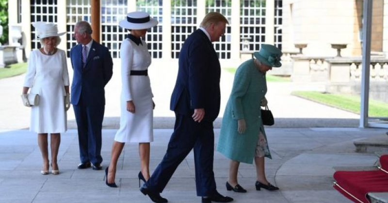 დონალდ ტრამპი გაერთიანებული სამეფოს დედოფალს შეხვდა
