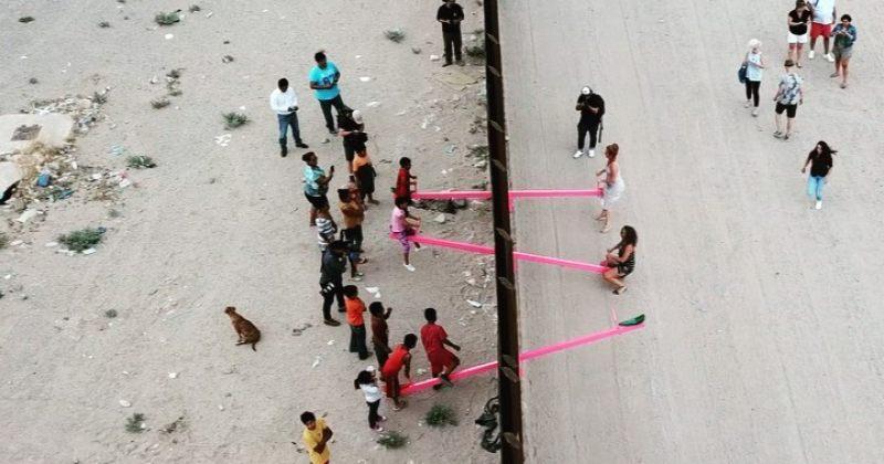 არტისტმა აშშ-მექსიკის სასაზღვრო კედელზე ბავშვებისთვის აიწონა-დაიწონა დაამონტაჟა [Video]