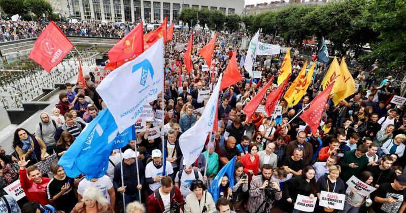 სანქტ-პეტერბურგში ათასობით მომიტინგე სამართლიან არჩევნებს ითხოვს