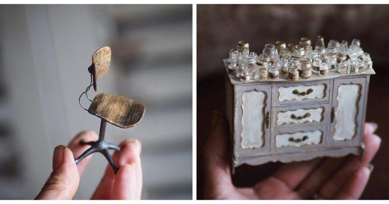 ხელნაკეთი, მინიატურული საყოფაცხოვრებო ნივთები - იაპონელი არტისტის პროექტი