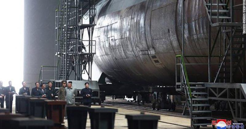 ჩრდილოეთ კორეის სახელმწიფო მედიამ ახალი წყალქვეშა ხომალდის კადრები გაავრცელა