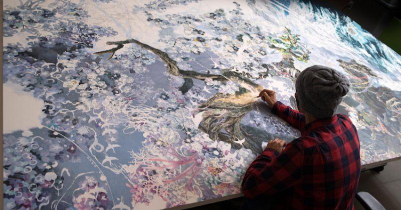 გიგანტური ნახატი, რომელსაც არტისტი 3,5 წელი ხატავდა