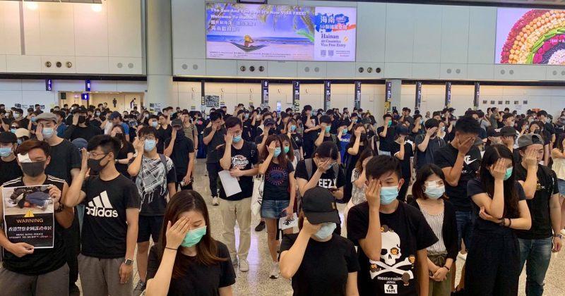 ჰონგ-კონგის აეროპორტში ყველა რეისი მეორე დღესაც გაუქმდა