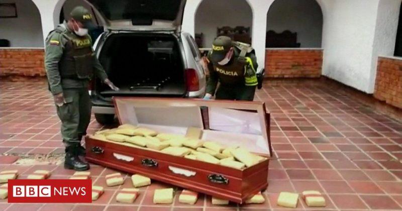 კოლუმბიის პოლიციამ კუბოში 300 კგ მარიხუანა აღმოაჩინა