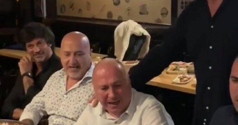 ვიდეო, სადაც ჩანს როგორ ერთობიან კახა კალაძე, დავით საგანელიძე და ბექა ოდიშარია მინსკში