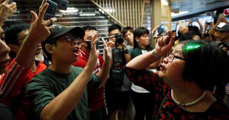 პეკინის მომხრე ჩინელებმა ჰონგ-კონგში, პროდემოკრატიული აქციის კონტრაქცია გამართეს