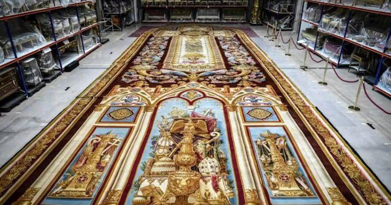 პარიზის ღვთისმშობლის ტაძრის ხანძრის შემდეგ მე-19 საუკუნის გობელინი აღადგინეს