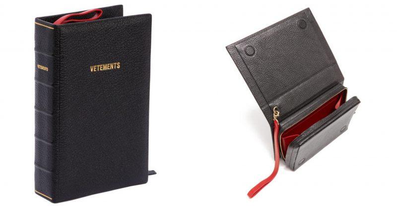 VETEMENTS-მა ბიბლიის ფორმის ჩანთა გამოუშვა
