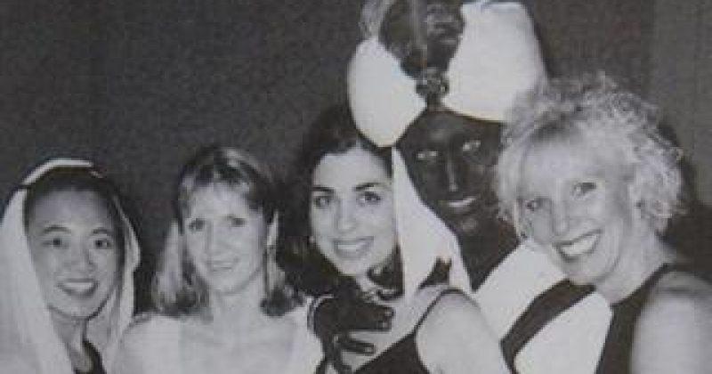 ჯასტინ ტრუდომ 2001 წელს სკოლის გალაზე სახის ყავისფრად შეღებვისთვის ბოდიში მოიხადა
